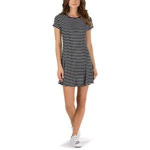 """🌟 Vans """"Yeah Skater Dress"""" White and Black Stripe"""